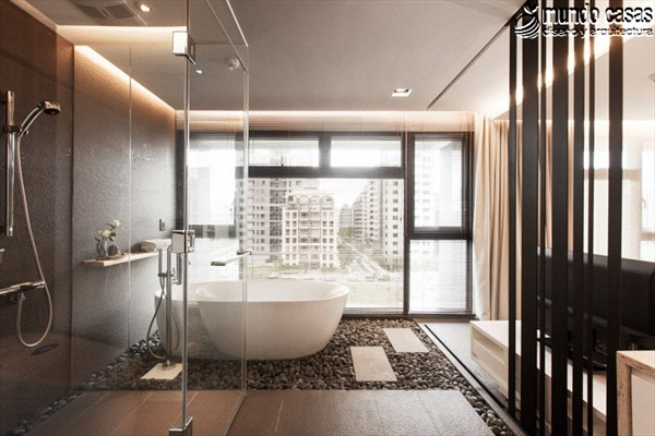 Moderniza tu privacidad con estas 27 ideas y diseños de decoración de baños (8)