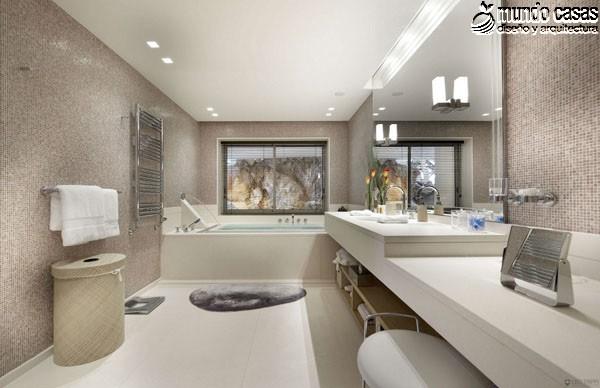 Moderniza tu privacidad con estas 27 ideas y diseños de decoración de baños (9)