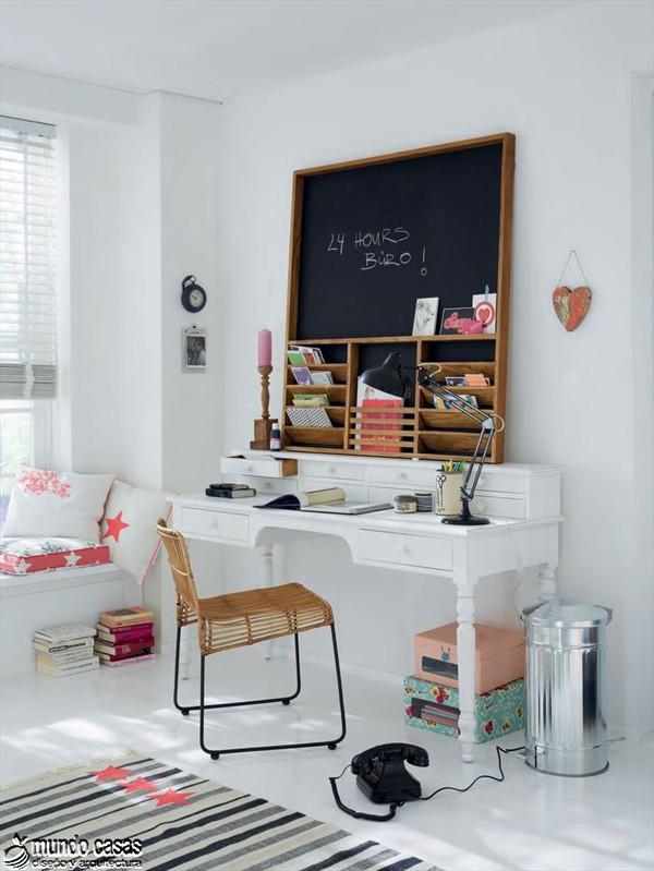 30 Diseños Creativos de Oficinas en Casa