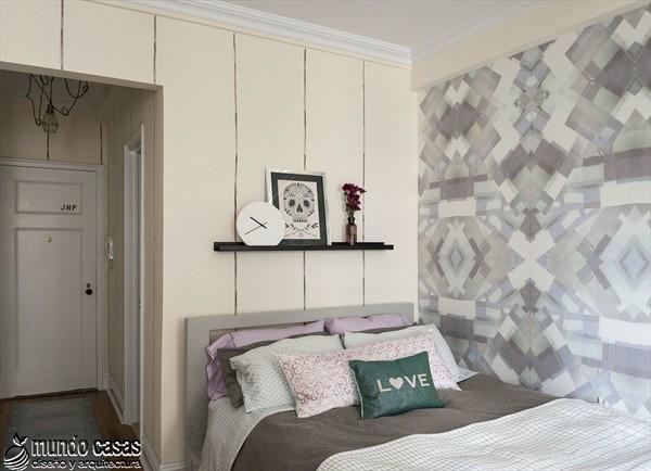 Apartamento energizante decorado con tonos femeninos