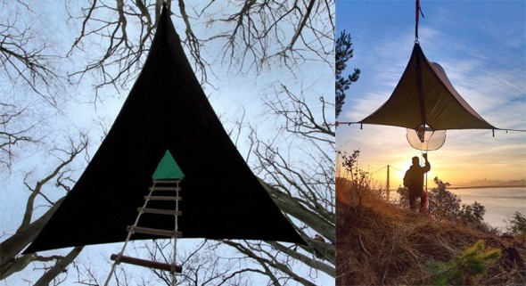 Casas colgantes para campamento una experiencia extrema