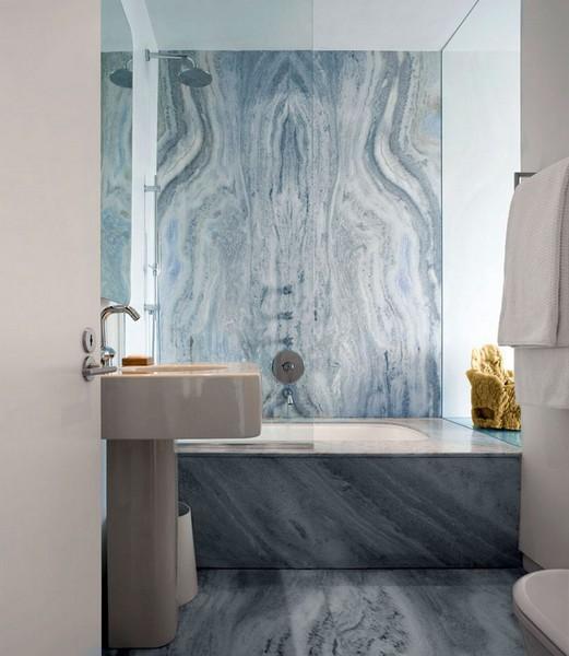 30 diseños de baños hechos con marmol