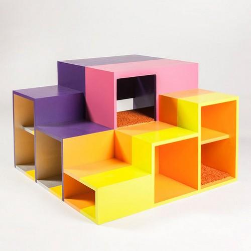 Casas para gatos creativas hechas con materiales varios