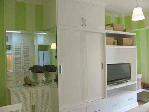 Decoracion de interiores con tonos verdes