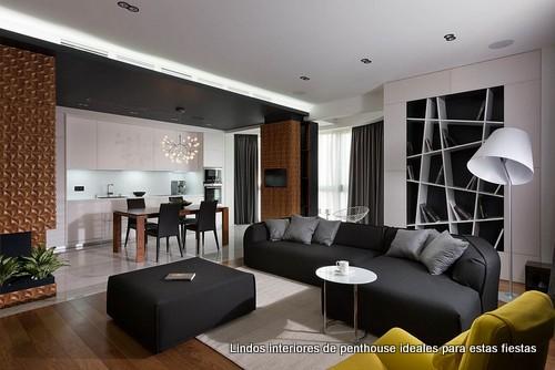 Excelencia al Decorar en Color Negro: Elegante, íntimo y moderno Apartamento