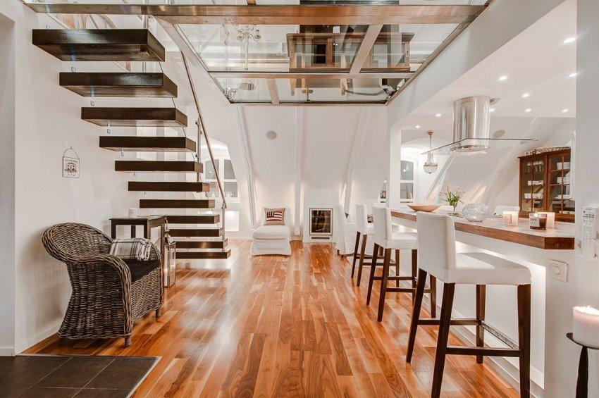 Ático reconvertido a super moderno y amplio apartamento