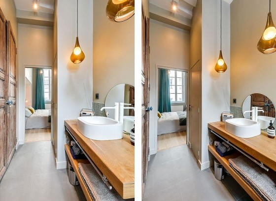 Interiores de apartamento decorado con elementos de cobre (12)