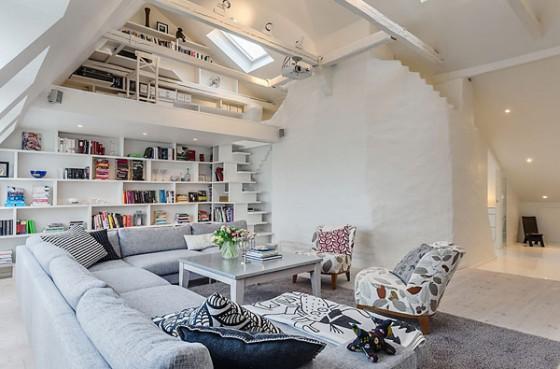 Interiores de apartamento decorado con elementos de cobre (3)