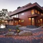 Casa moderna y rustica con un toque de otoño