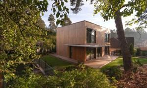 Diseño elegante de una casa en Vilnius, Lituania con estilo contemporáneo