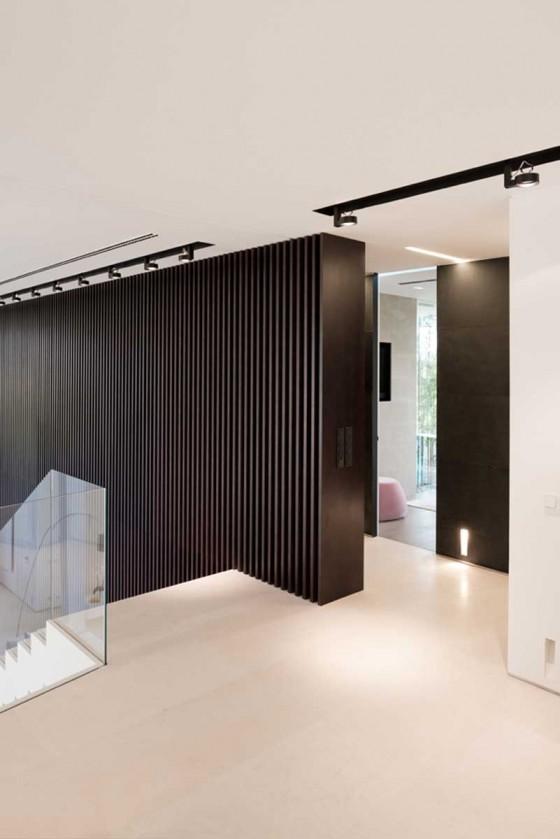 el diseño de las paredes es minimalista