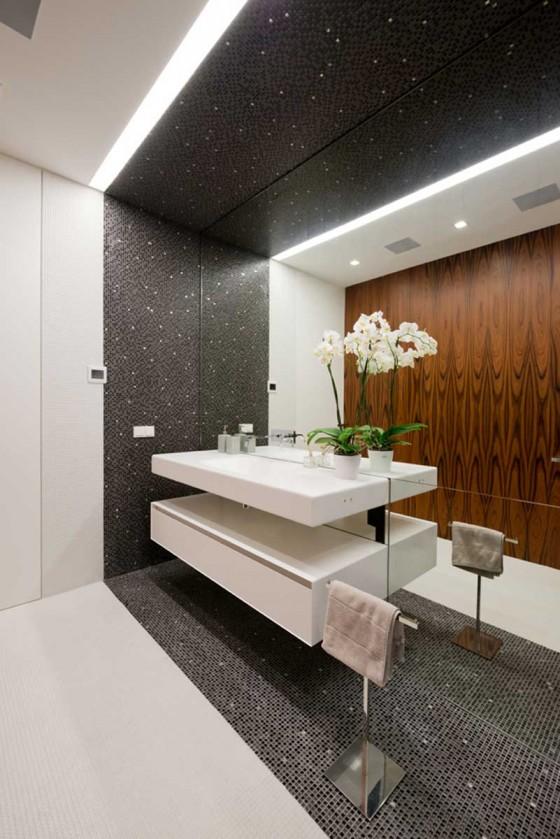 baño muy elegante