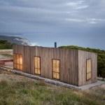 Pequeña casa como cabina de luz con vista al océano en Victoria Australia