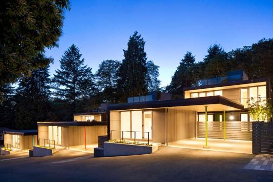 casa moderna bien iluminada