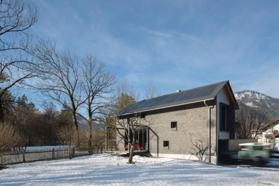 la casa en un ambiente rural