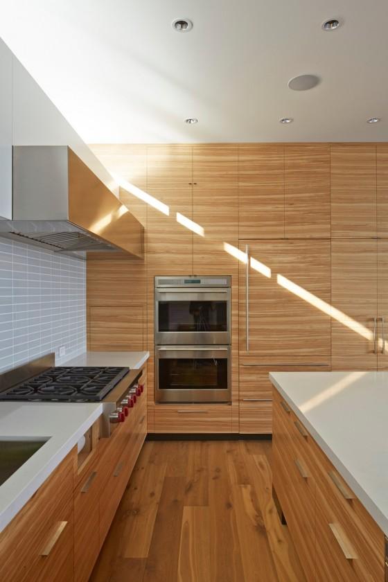 madera y diseños modernos en la cocina
