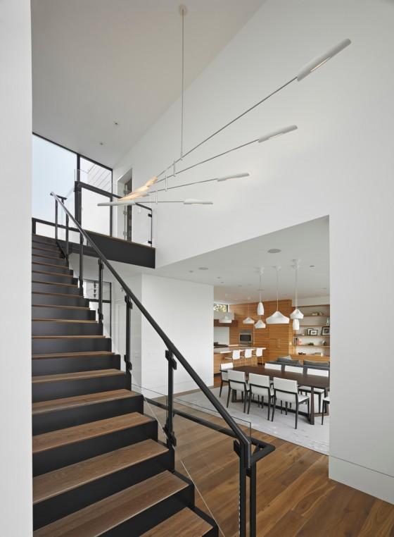 una hermosa escalera