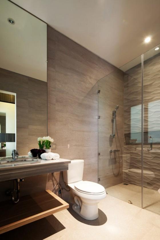 El baño muy moderno