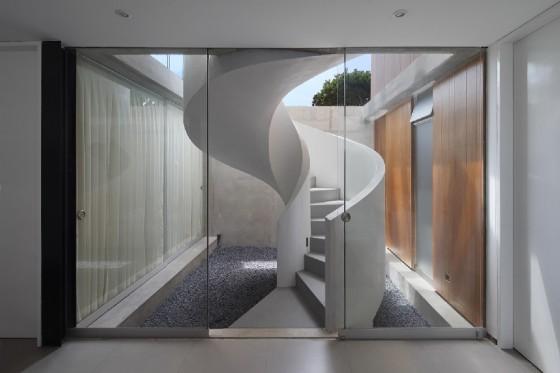 las escaleras por dentro