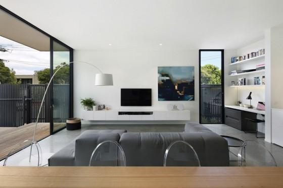 moderno lugar con amplias ventanas