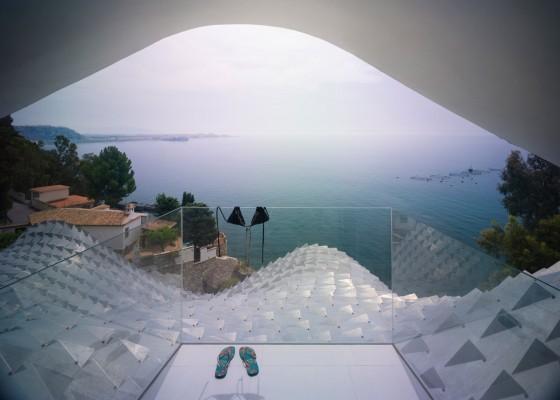 vista preciosa al mar mediterráneo
