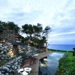 La naturaleza se encuentra unida en una tradición en esta casa junto al mar taiwanés